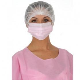 Masque 3 plis à élastique ou à lanières