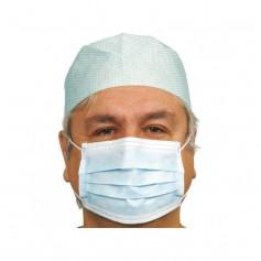 Masques chirurgicaux - 3 plis à élastiques Bleu - Boîte de 50