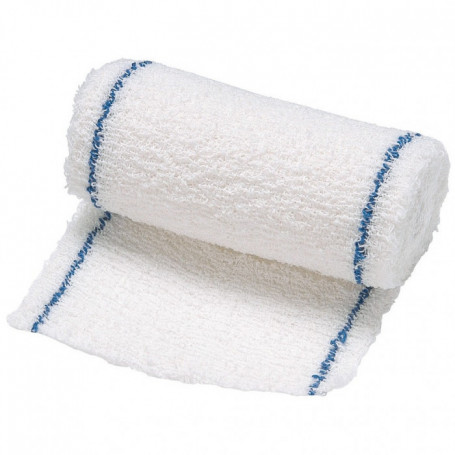 Bande de crêpe en pur coton 4x10cm