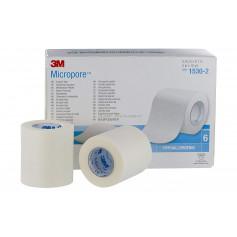 Sparadrap Micropore 5cmx9.14m sans dévidoir - 6 rouleaux
