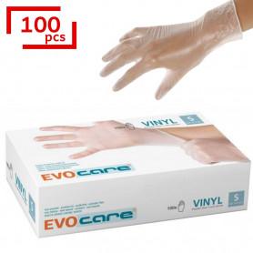 Gant vinyle poudré non stérile - Taille 6/7 - S - 100 gants