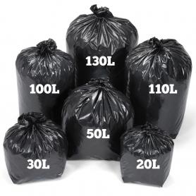 Sac poubelle noir - haute résistance - 20l à 130l