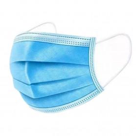 Masque 3 plis Bleu à élastiques