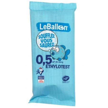 Ethylotest chimique jetable NF 0,5G sans chrome - Le Ballon