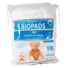 Carrés de coton Biopads 5x5cm - sachet de 500